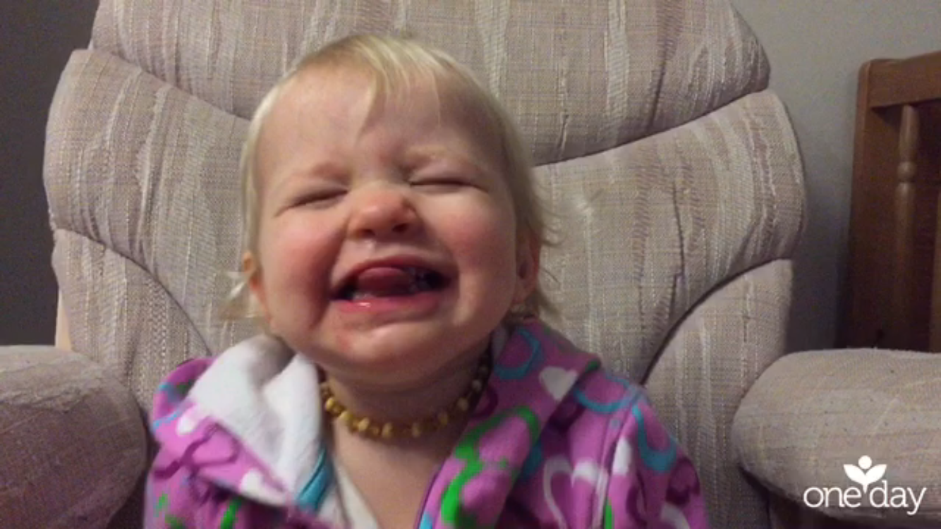 Aven smiles on a One Day video