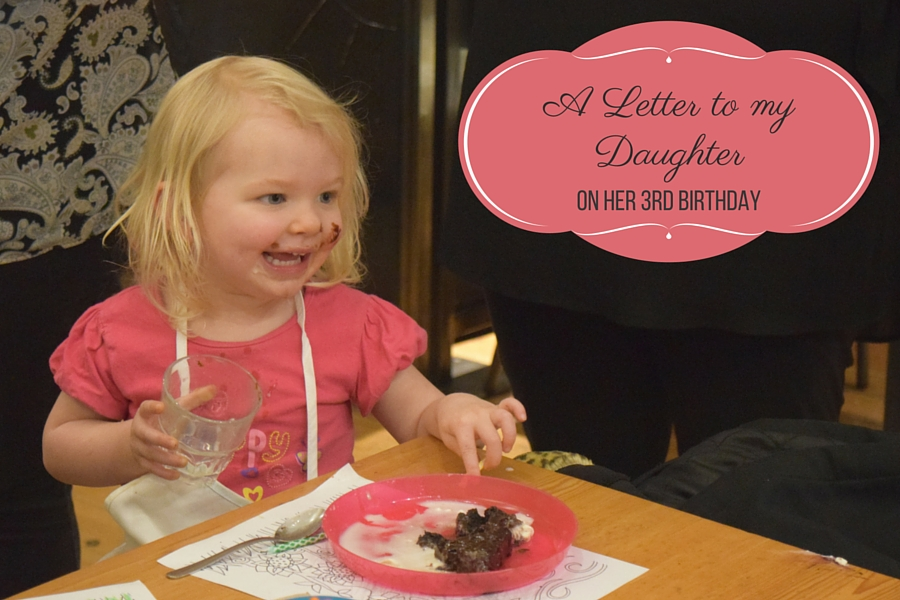 A Letter to my daughter on her 3rd birthday